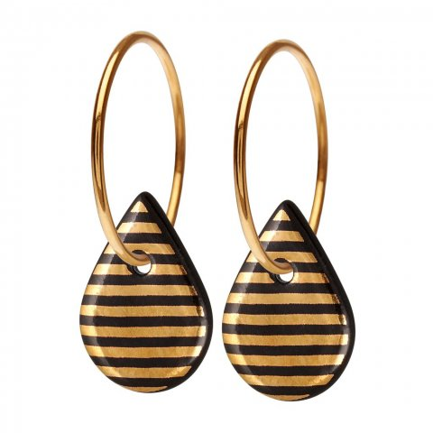 JAZZ TEARDROP · BLACK/GOLD