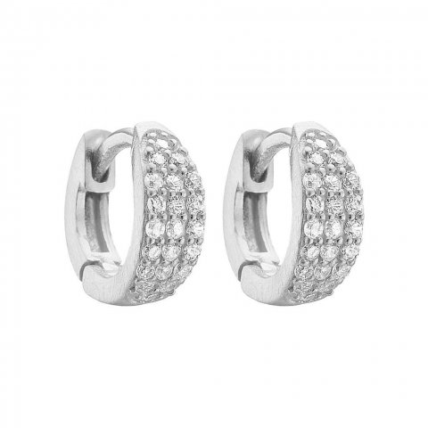 HOOPS, SPARKLING, SILVER
